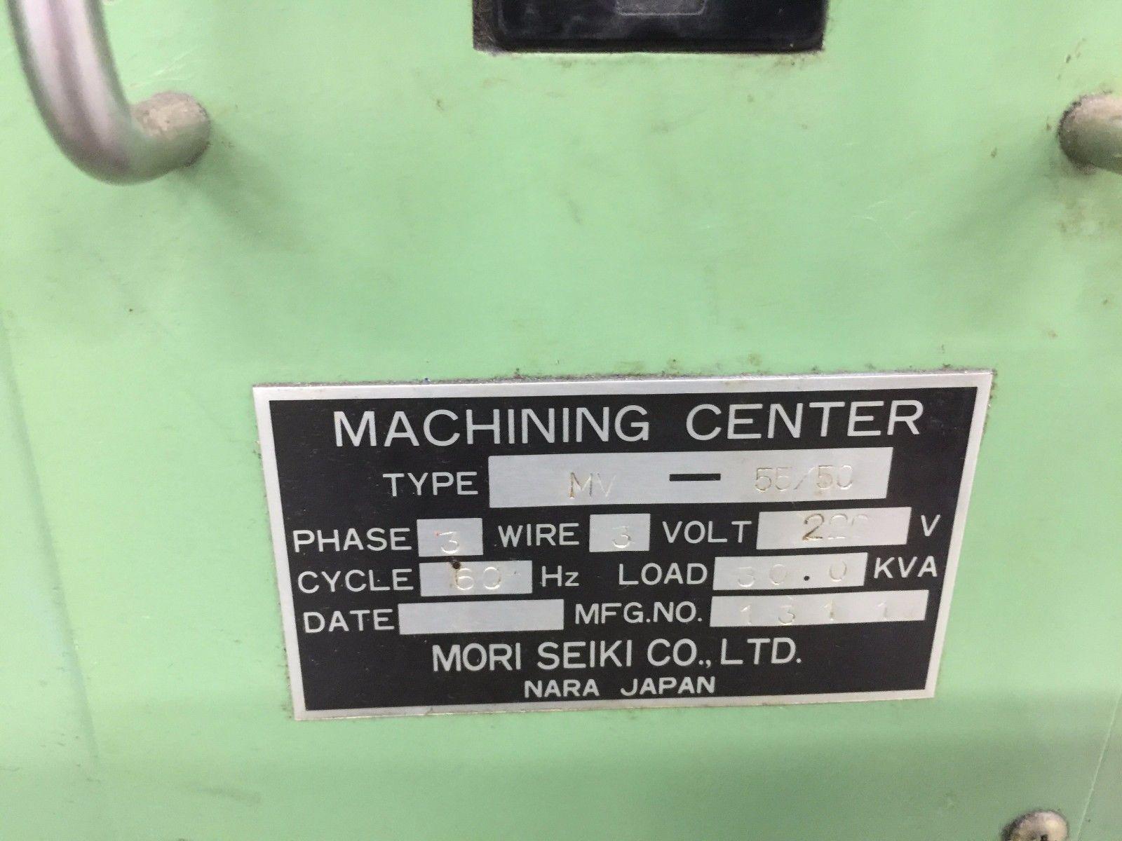 Lot 21 - Mori Seiki MV-55/50 Vertical Machining Center
