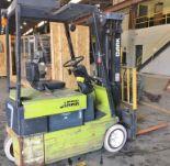 Lot 3 - Clark 2475lb Electric Forklift w/ Side Shift