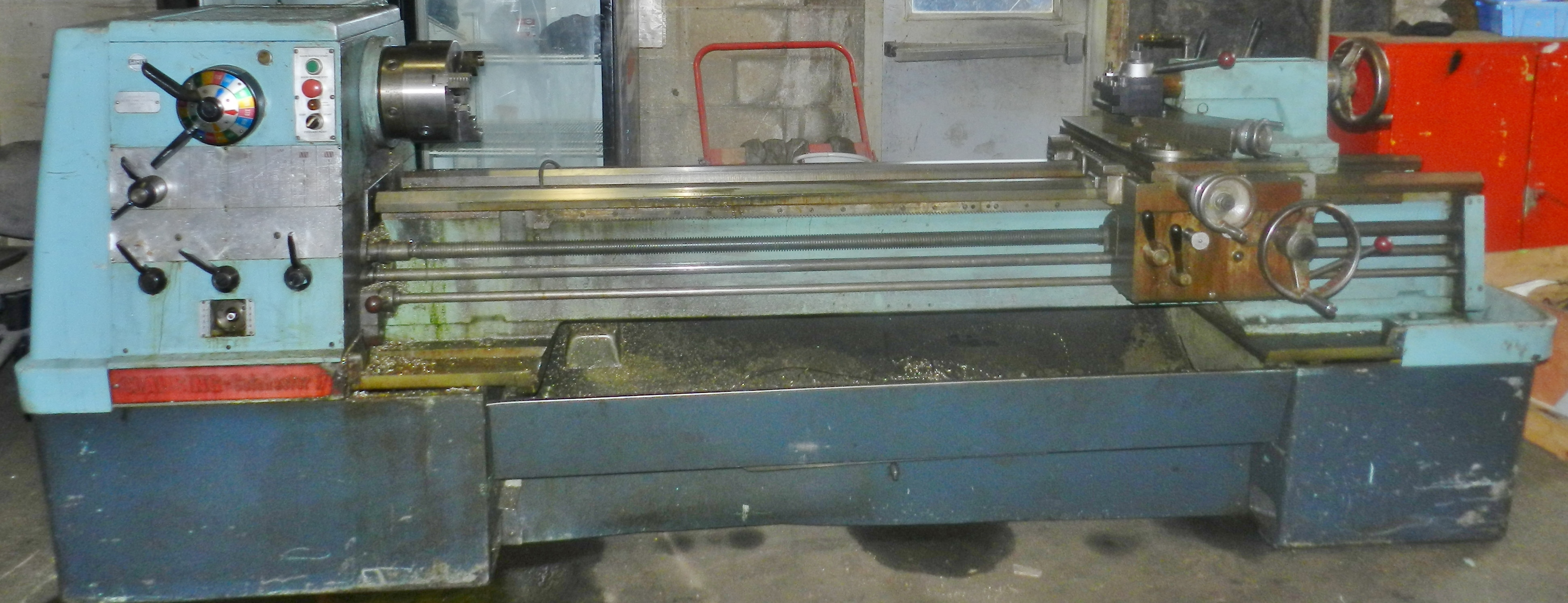 "Lot 63 - Clausing Colchester 17"" x 80"" Gap Bed Engine Lathe"