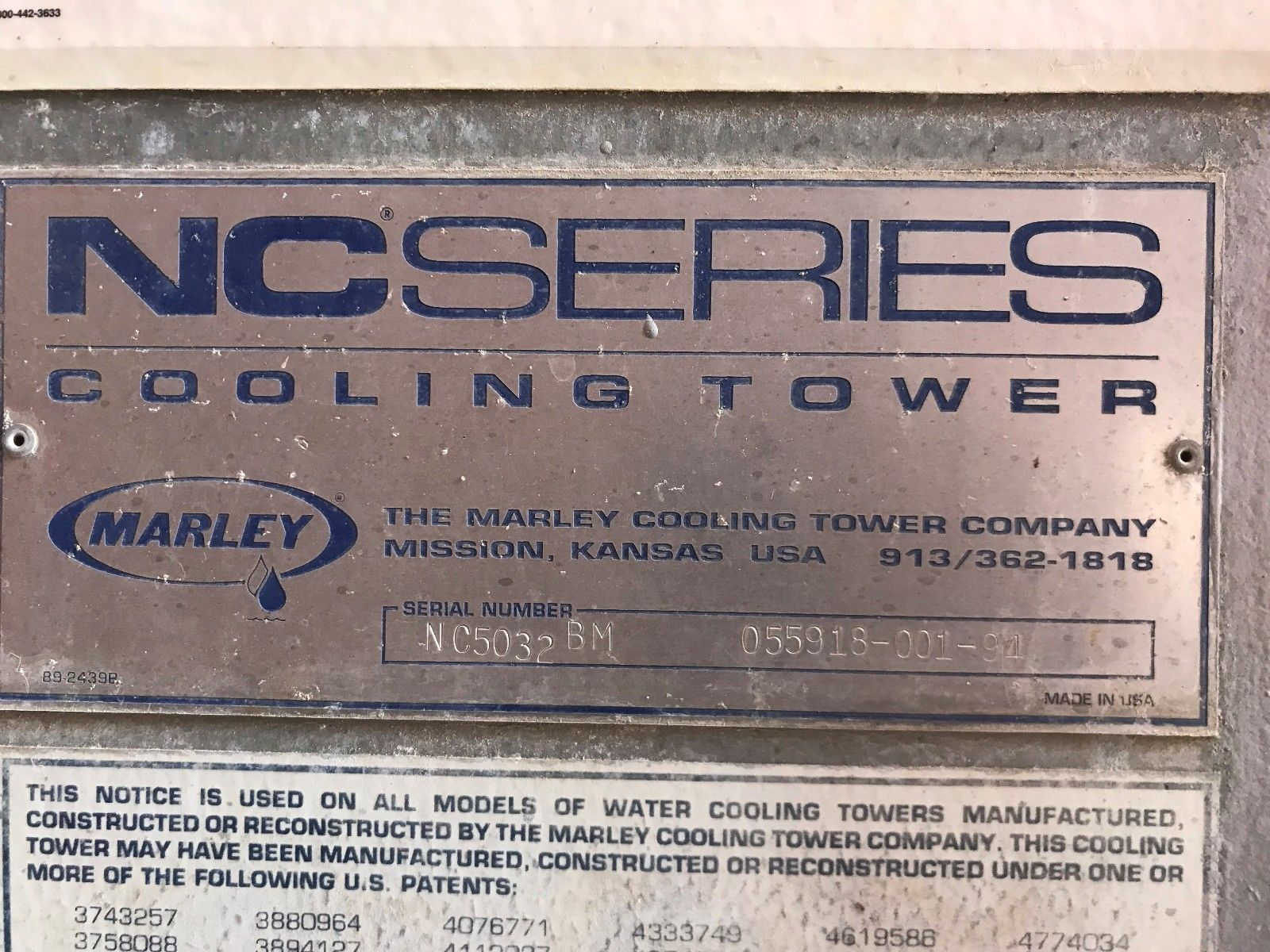 Lot 45 - Marley 500 Ton Cooling Tower