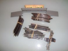 N GAUGE - A quantity of track and electric points