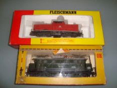 HO GAUGE - A pair of Fleischmann German Outline lo