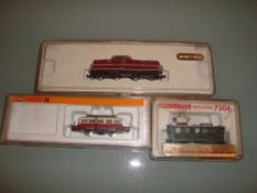 N GAUGE - A group of three German Outline diesel l