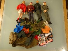 GROUP OF ACTION MEN AND CLOTHING - Good / Very Goo
