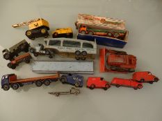 DIECAST: A GROUP OF DINKY TRUCKS - as lotted - Poo
