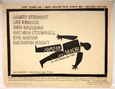 "ANATOMY OF A MURDER (1963) - US Half Sheet - Style A. with SAUL BASS design - (22"" x 28"" - 56 x 71"