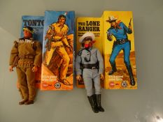 PAIR OF ACTION FIGURES BY MARX TOYS - THE LONE RAN