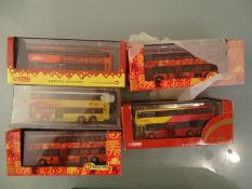 DIECAST: TRAY OF HONG KONG DOUBLE DECK OOC BUSES -