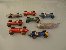 DIECAST: A GROUP OF DINKY RACING CARS - as lotted