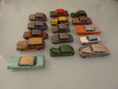 QUANTITY OF HEAVILY PLAYWORN CARS - by Dinky - as