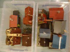 MODEL RAILWAYS - HO GAUGE - Two plastic crates of