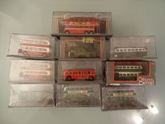 DIECAST: TRAY OF OOC LONDON TRANSPORT BUSES - as l