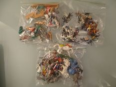LARGE QUANTITY OF PLASTIC KNIGHTS AND NAPOLEONIC S