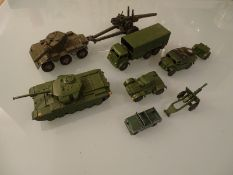 DIECAST: MIITARY THEMED DIECAST VEHICLES By Dinky,