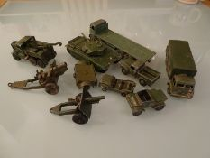 DIECAST: A GROUP OF MILITARY VEHICLES - By Dinky a