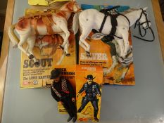 A GROUP OF FIGURES BY MARX TOYS IN THE LONG RANGER