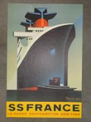 ORIGINAL PRINT FOR SS NORWAY (1979) - ONE OF A SET OF SEVEN SPECIALLY COMMISSIONED LIMITED EDITION