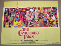 """THE CANTERURY TALES (1972) - UK Quad Film Poster (30"""" x 40"""" - 76 x 101.5 cm) – Folded – Very"""