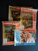 LA RAGAZZA DAL BIKINI ROSA (SEPTEMBER STORM) (1961) - Italy - 3 x Fotobustas, together with IL