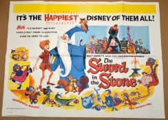 THE SWORD IN THE STONE (1963) - (1976 re-release) British UK Quad film poster - Walt Disney