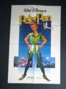 "WALT DISNEY LOT x 2 - PETER PAN (1982) US One Sheet film poster - (27"" x 41"" - 68.5 x 104 cm) &"