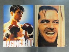 """JOB LOT X 3 COMMERCIAL POSTERS : RAGING BULL (1980), THE SHINING (1980) AND """"BOGART"""" together with"""