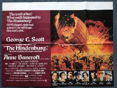 HINDENBURG (1975) - UK Quad Film Poster - Explosiv
