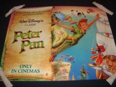 "PETER PAN (1989 Release) LOT x 5 - 1 x British UK Quad Film Poster - (30"" x 40"" - 76 x 101.5 cm) & 4"