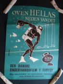 OVEN HELLAS NEDEN VANDET (TOP HELLAS BELOW THE WATER) (1957) - Danish A1 Movie Poster - Lehmann