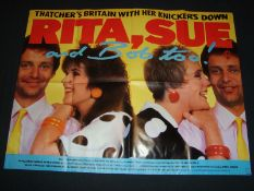 "RITA, SUE AND BOB TOO (1987) - UK Quad (30"" x 40"" - 76 x 101.5 cm) Film Poster - Folded. Good"