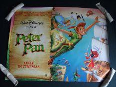 """PETER PAN (1990's) - UK Quad - (30"""" x 40"""" - 76 x 1"""