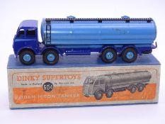 DINKY SUPERTOYS: 504 Foden 14-ton Tanker in blue/l