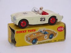 DINKY DIECAST: 109 Austin Healey 100 Sports Car in