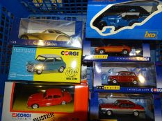 TRAY OF DIECAST CARS BY CORGI, IXO AND BEST OF SHO
