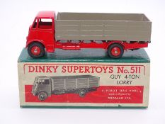 DINKY SUPERTOYS: 511 Guy 4-ton lorry in red with f