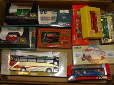 TRAY OF MIXED DIECAST: mainly buses by various man