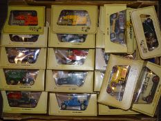TRAY OF MATCHBOX MODELS OF YESTERYEAR: in cream bo