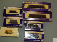 N GAUGE - GROUP OF BRITISH OUTLINE STEAM LOCOS and FREIGHT WAGONS by DAPOL - E in G/VG boxes (7)