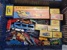 SELECTION OF BOXED AND UNBOXED MATCHBOX AND CORGI DIECAST - as lotted - F/VG in F/G boxes where
