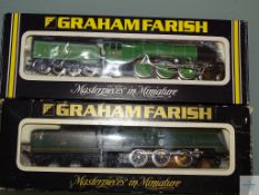 N GAUGE - PAIR OF BRITISH OUTLINE STEAM LOCOMOTIVES by GRAHAM FARISH 'FLYING SCOTSMAN' and '
