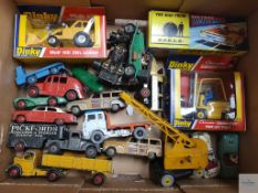 QUANTITY OF PLAYWORN DIECAST - MOSTLY BY DINKY - with some TIMPO and CORGI - Generally F in F