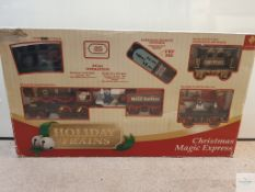 CHRISTMAS MAGIC EXPRESS PLASTIC REMOTE CONTROL TRAIN SET - VG in F/G box