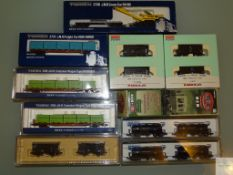 N GAUGE - GROUP OF JAPANESE OUTLINE FREIGHT WAGONS - by TOMIX, KATO, KAWAI etc - VG/E in G/VG