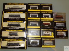 N GAUGE - GROUP OF BRITISH OUTLINE FREIGHT WAGONS by GRAHAM FARISH - G/VG in G/VG boxes (18)