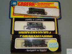 N GAUGE - GROUP OF BRITISH OUTLINE STEAM TANK LOCOMOTIVES by GRAHAM FARISH all in GWR LIVERY - G/