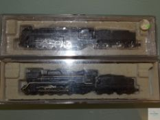 N GAUGE - PAIR OF JAPANESE OUTLINE STEAM LOCOS - by MICRO ACE - E in VG boxes (2)