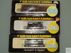 N GAUGE - GROUP OF BRITISH OUTLINE STEAM LOCOMOTIVES by GRAHAM FARISH - G/VG in G boxes (3)