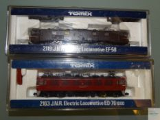 N GAUGE - PAIR OF JAPANESE OUTLINE ELECTRIC LOCOS by TOMIX - E in VG boxes (2)