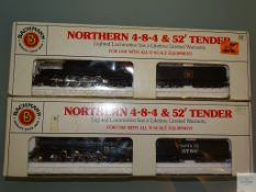 N GAUGE - PAIR OF AMERICAN OUTLINE STEAM LOCOMOTIVES by BACHMANN - G/VG in F/G boxes (2)