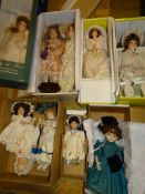 A collection of modern Artist Dolls of different sizes, by various manufacturers - mostly unboxed as